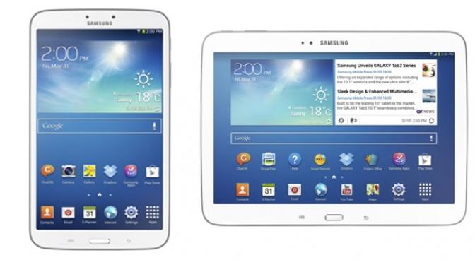 Galaxy Tab 3 (suporte 4G - processador Intel - tela de 8 e 10.1)