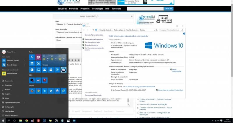 Windows 10 - Forçando download e instalação