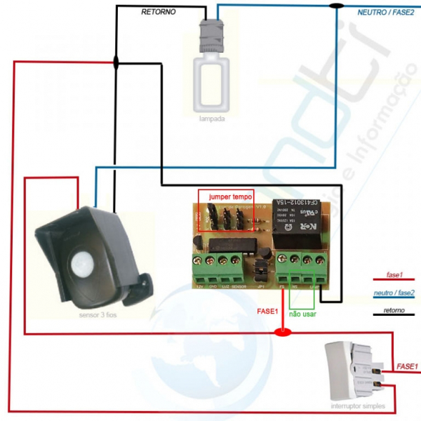 Sensor De Presen 231 A Interruptor Placa Luz De Garagem